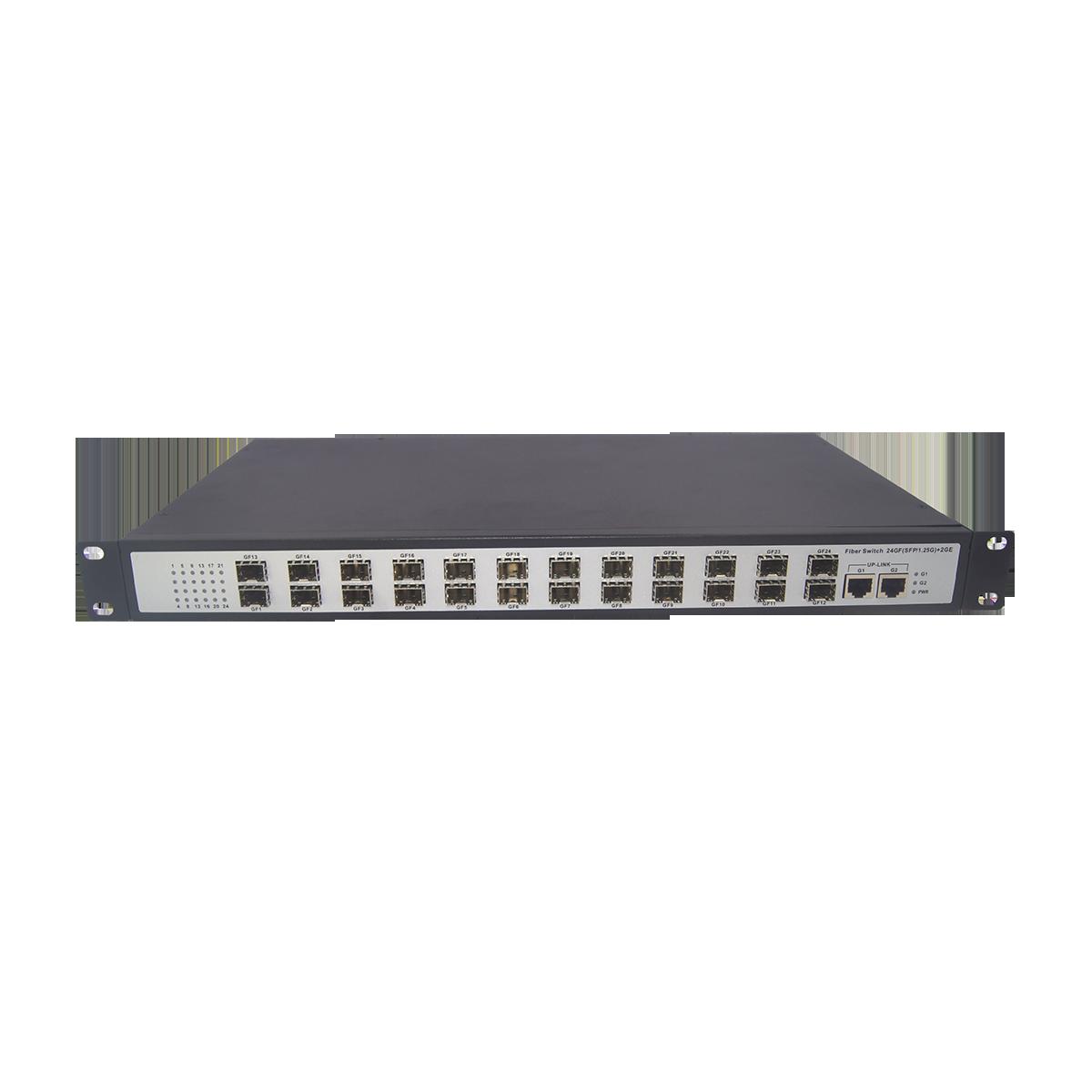 电信级24千兆光2千兆电管理型光纤交换机