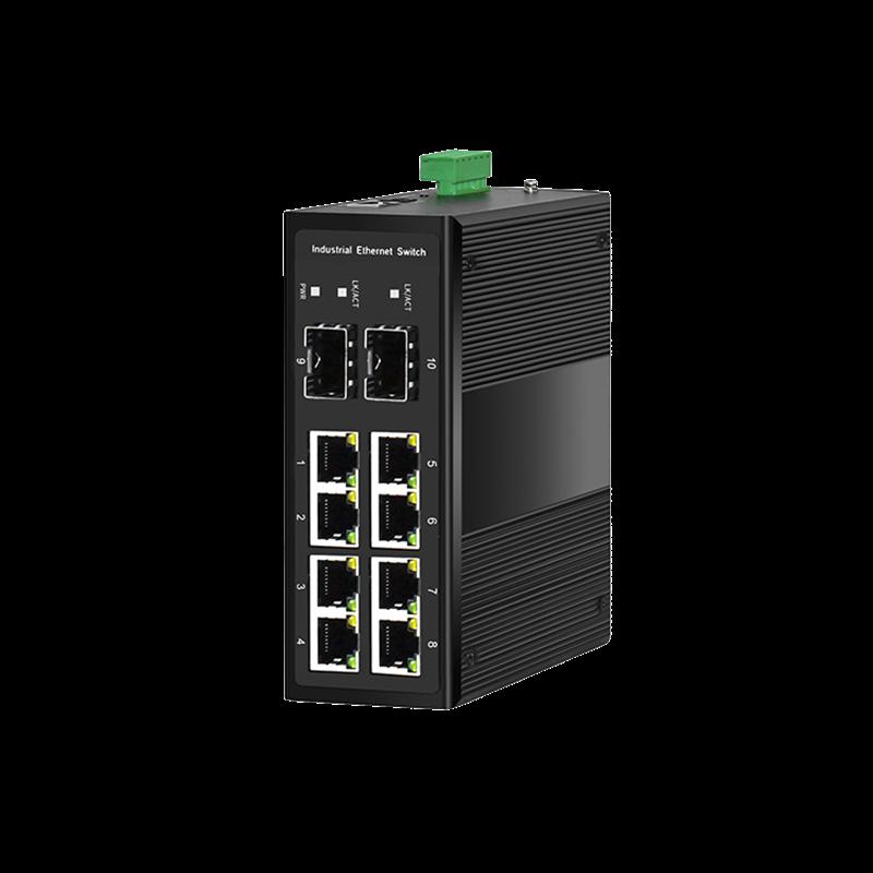 工业级2光8电千兆PoE环网交换机