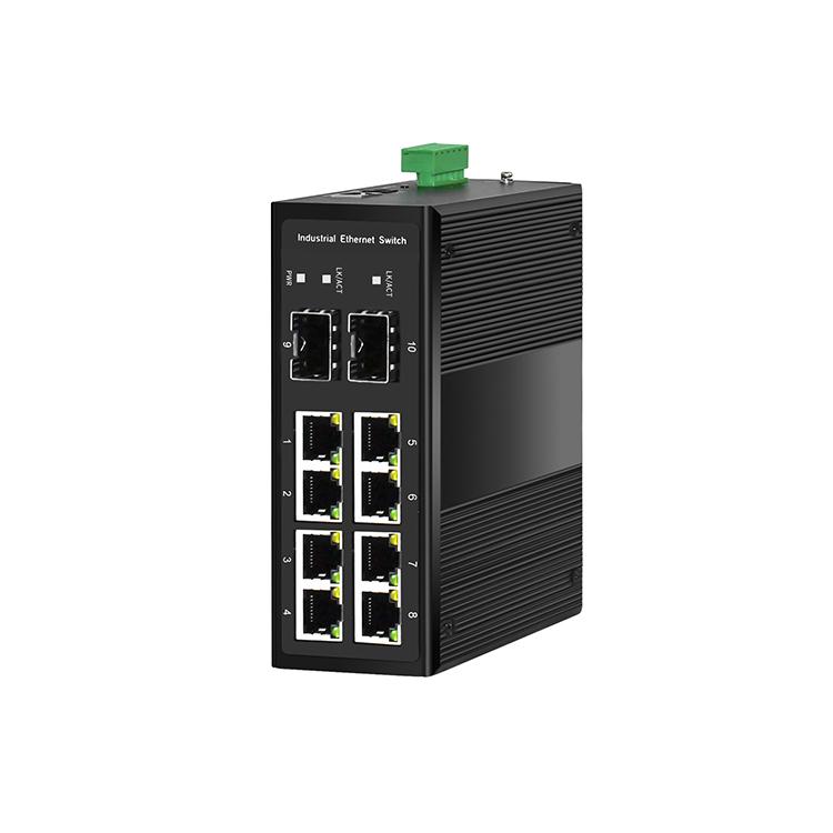 工业级2光8电千兆管理型环网交换机