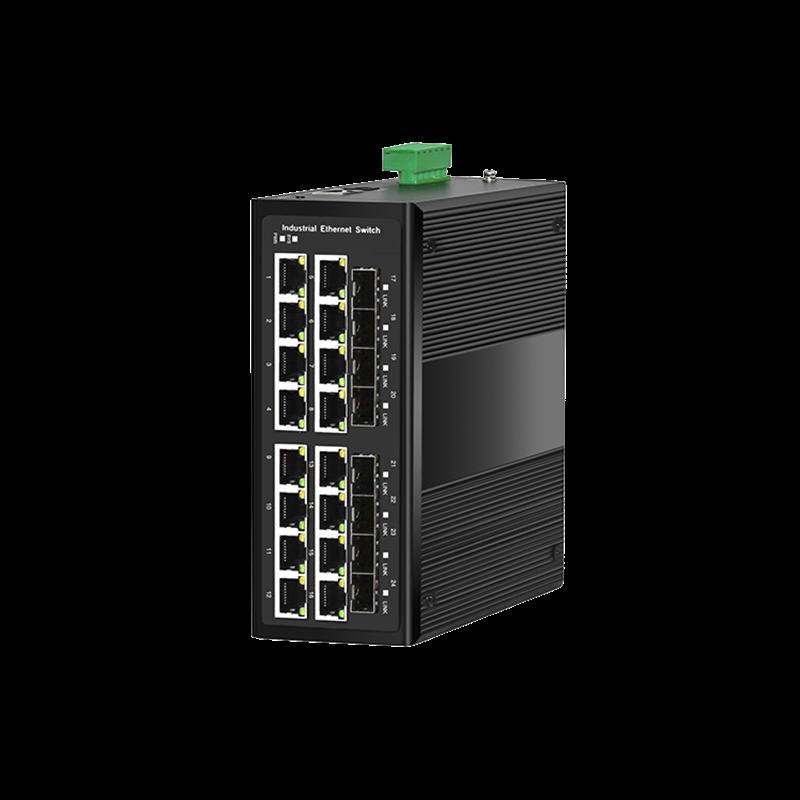 8光16电千兆工业PoE环网交换机