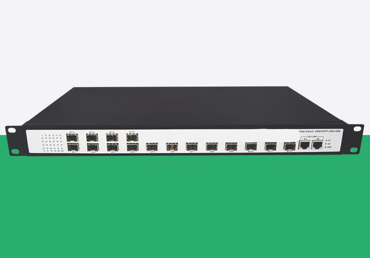 电信级16光2电千兆管理型光纤交换机