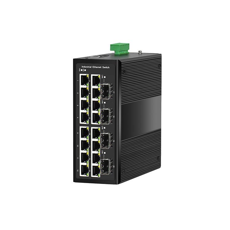 工业级4光16电千兆PoE管理型环网交换机