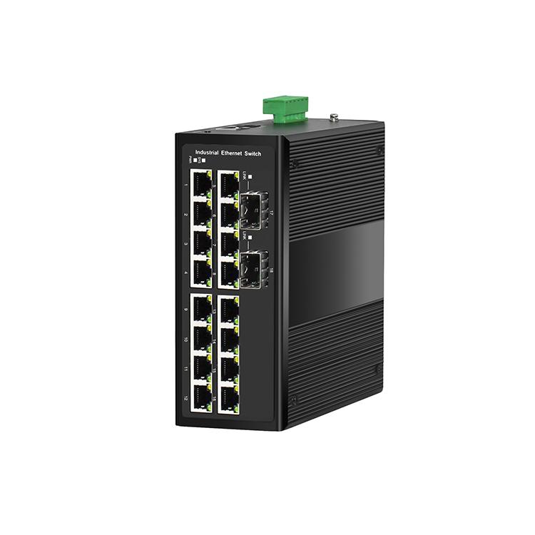 工业级2光16电千兆管理型环网交换机