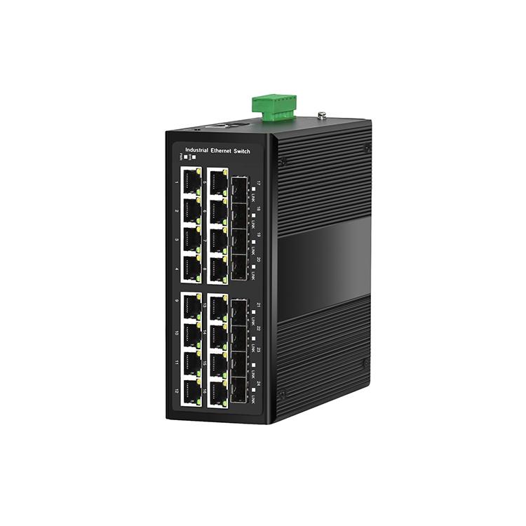 工业级8光16电千兆管理型环网交换机