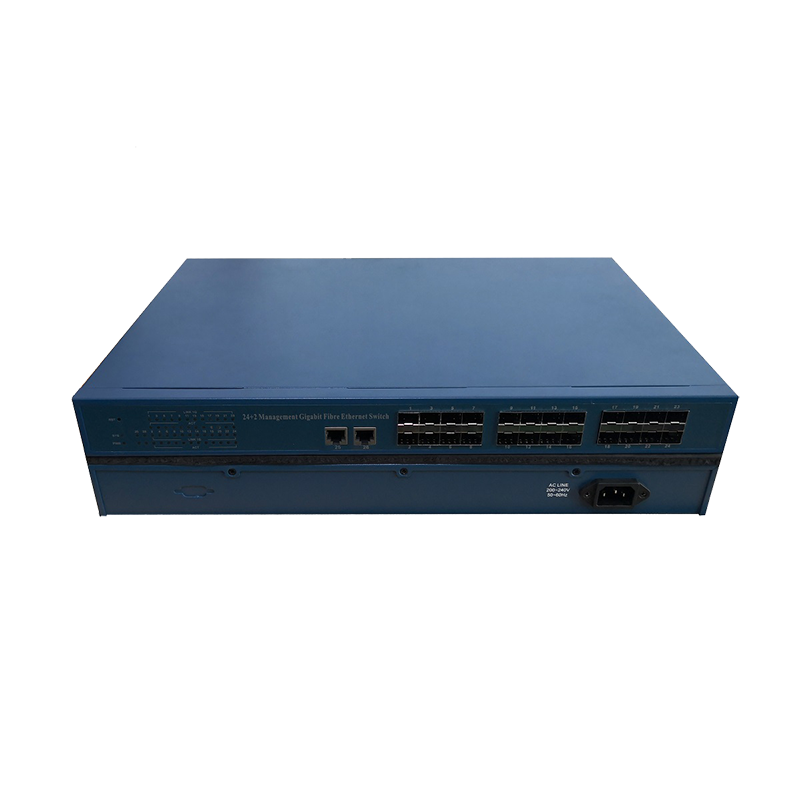 电信级24光2电千兆管理型光纤交换机