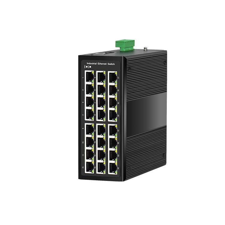 24电千兆工业PoE环网交换机