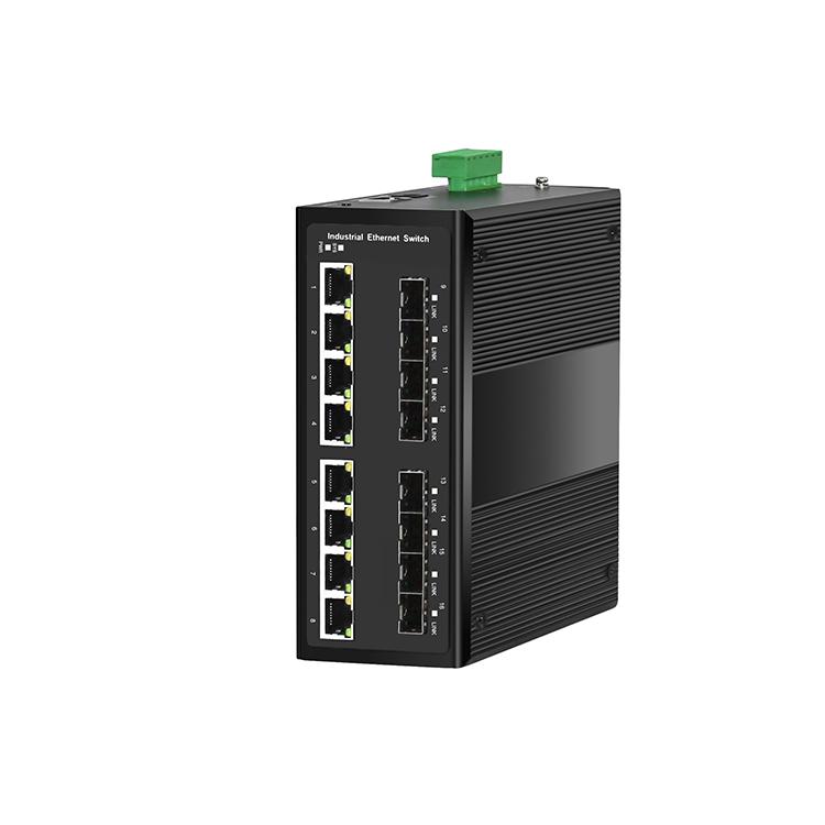 工业级8光8电千兆管理型环网交换机
