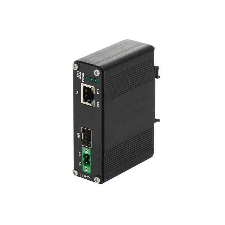 工业级1光1电百兆光纤收发器