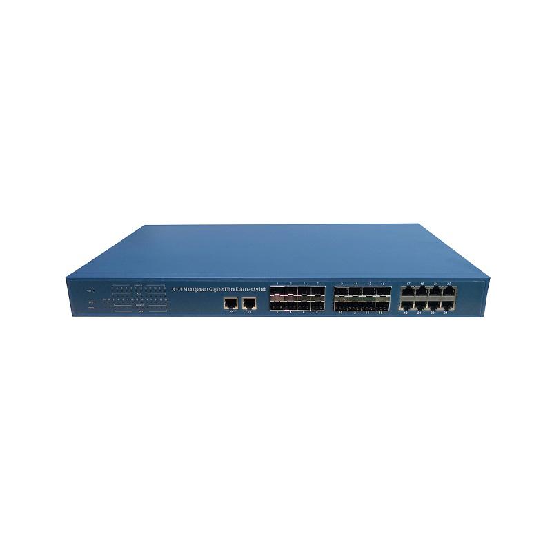 电信级16光10电千兆管理型光纤交换机
