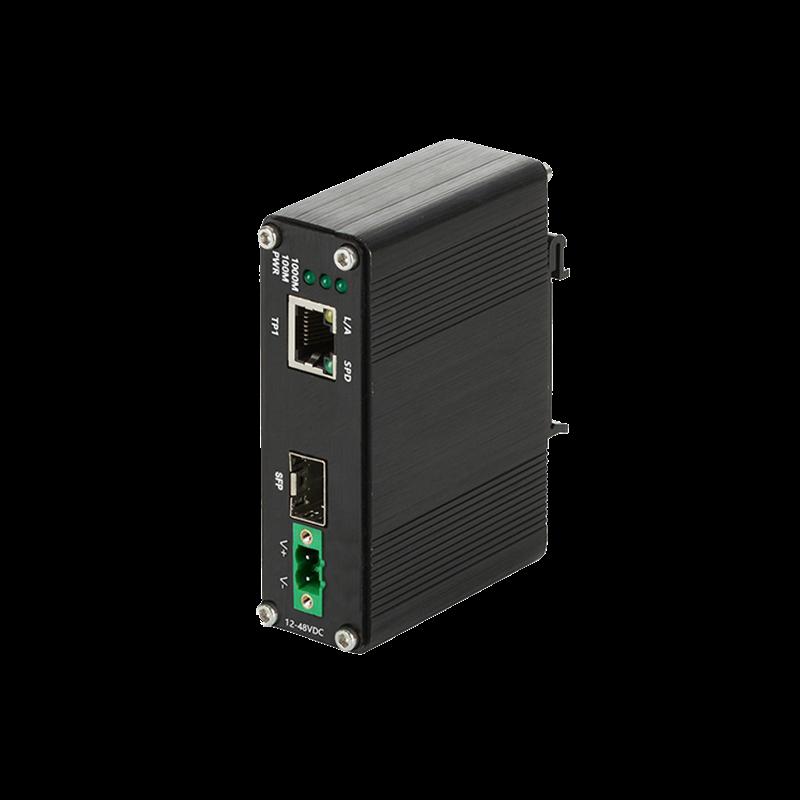 工业级1光1电千兆光纤收发器