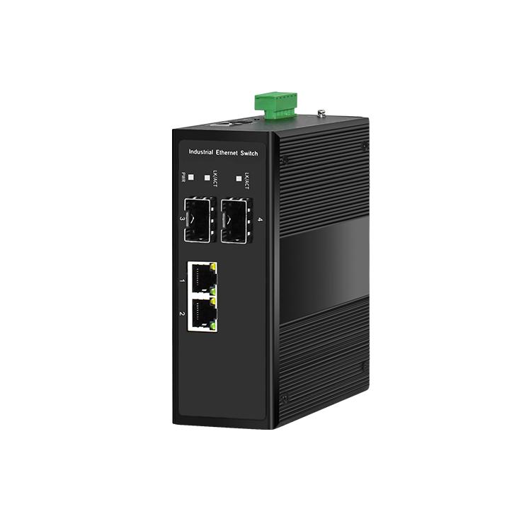 2光2电百兆工业级PoE交换机