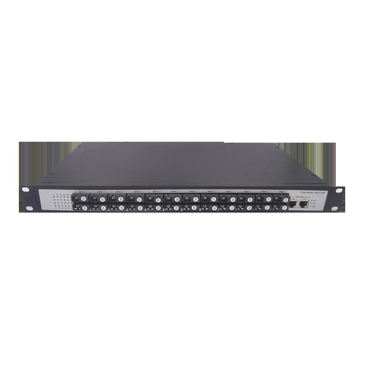 电信级24千兆光2千兆电非管理型光纤交换机