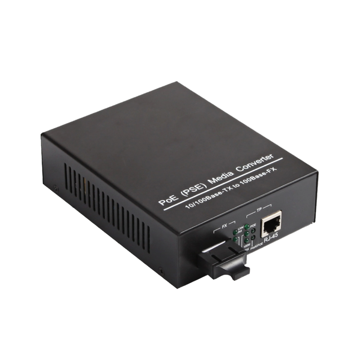 电信级1光1电千兆PoE收发器