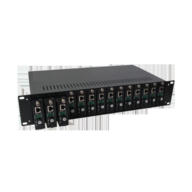 电信级1光2电千兆光纤收发器