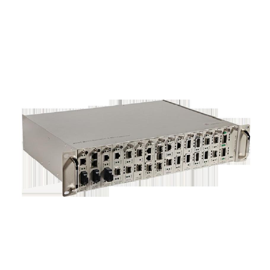 电信级1光1电百兆网管型收发器
