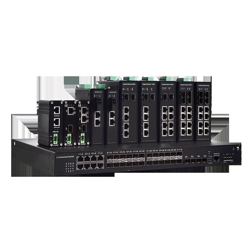 准工业级环网安防交换机2光8电