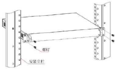 工业交换机机架式安装示意图