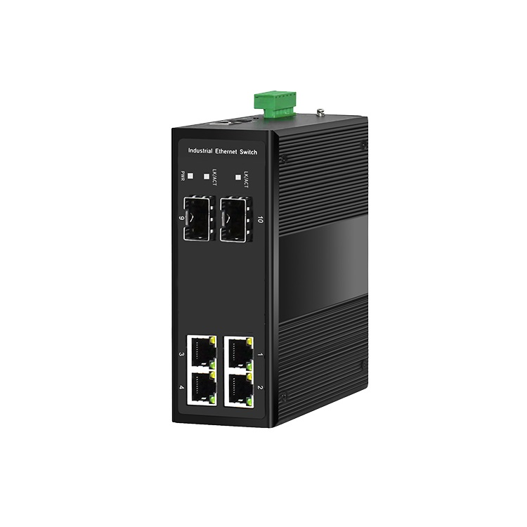 准工业级环网安防交换机2光4电