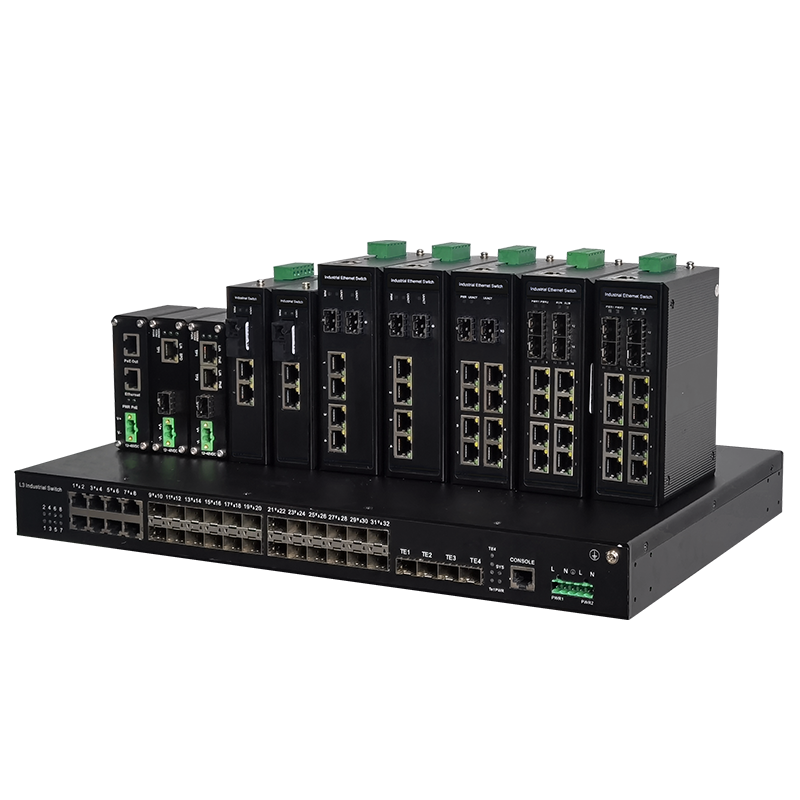 4光24电4复用口千兆工业环网交换机