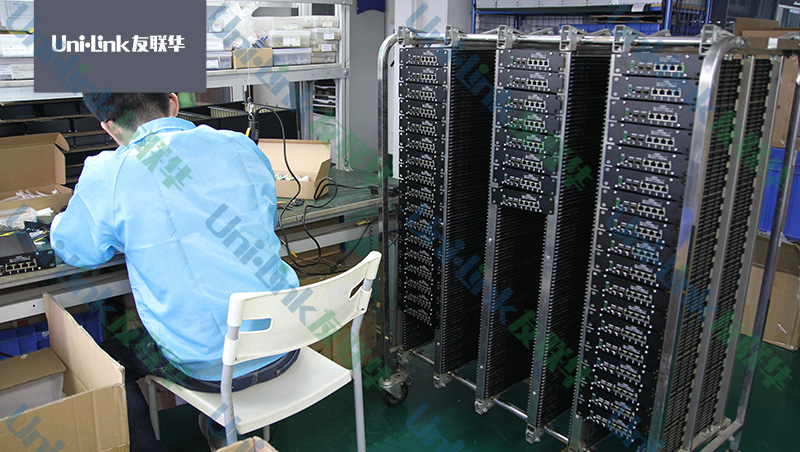 光纤收发器整机测试
