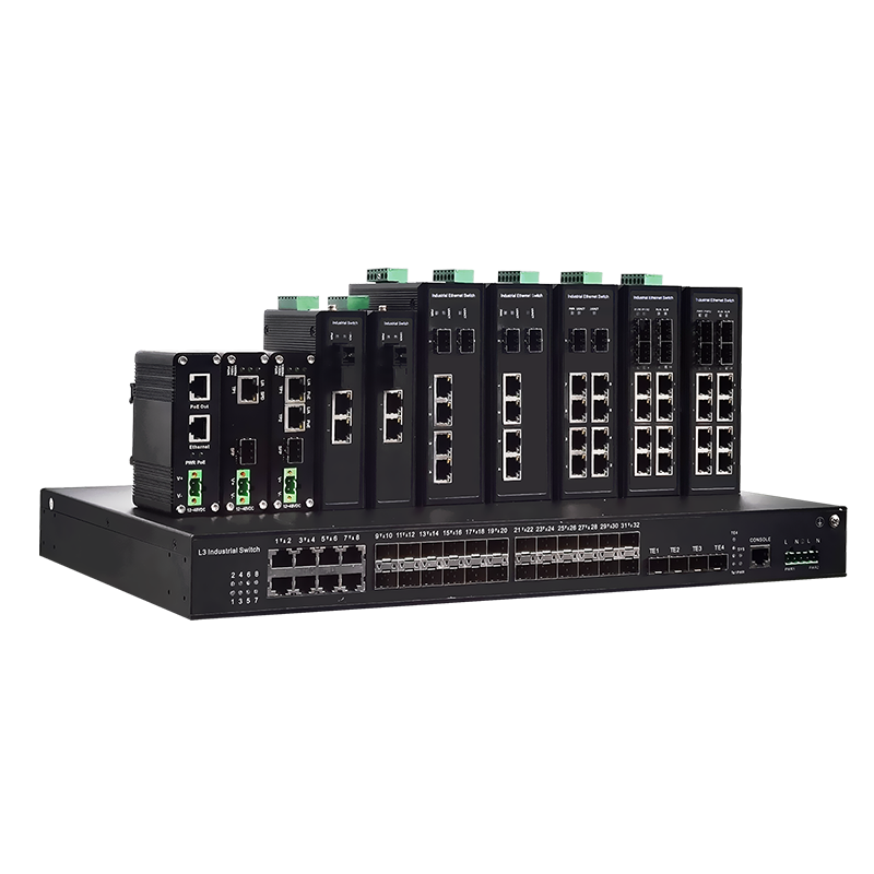 准工业级安防交换机1光4电千兆